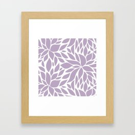 Bloom - Lavender #2 Framed Art Print