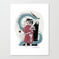 chihiro Canvas Prints featuring CHIHIRO by tarmasz