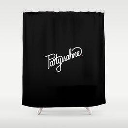 Partysahne   [black & white] Shower Curtain