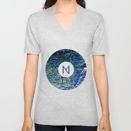 Vinyl abstract Unisex V-Neck