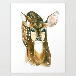 Sweet Face Deer Art Print