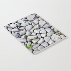 Sea Stones - Gray Rocks, Texture, Pattern Notebook