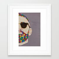 grafitti Framed Art Prints featuring grafitti art by Kristina Jovanova
