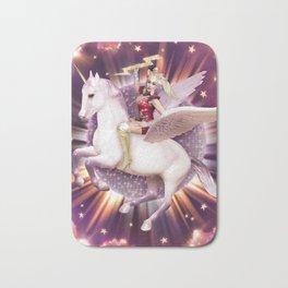Andora: Drag Queen Riding a Unicorn Bath Mat