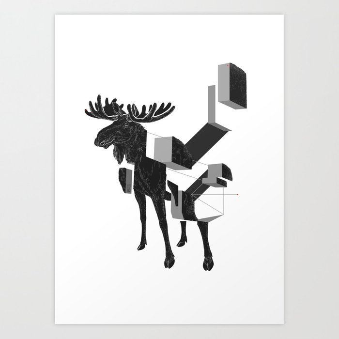 moose_deconstructed Art Print