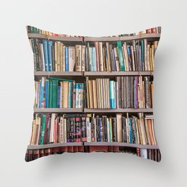 Library books Throw Pillow