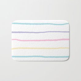 Pastel colors lines pattern Bath Mat