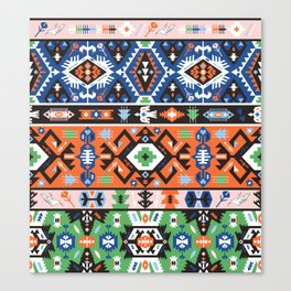 Tribal chic seamless colorful patterns Canvas Print