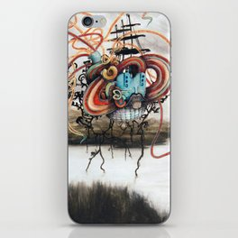 Sea Monster Meets Wary Traveler iPhone Skin