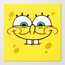 Spongebob Naughty Face Canvas Print