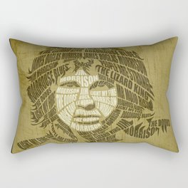 The lizard king calligram Rectangular Pillow