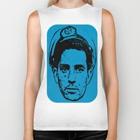 kerouac Biker Tanks featuring Outlaws of Literature (Jack Kerouac) by Silvio Ledbetter