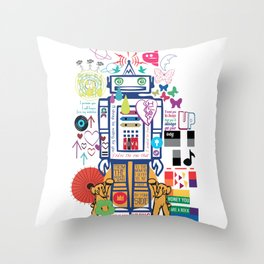 we live in a beautiful world Throw Pillow