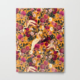 FLORAL AND BIRDS XVI Metal Print