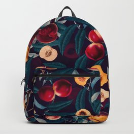 Nectarine and Leaf pattern Backpack