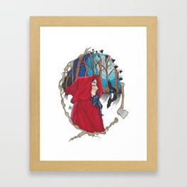 Red Riding Hood. Framed Art Print