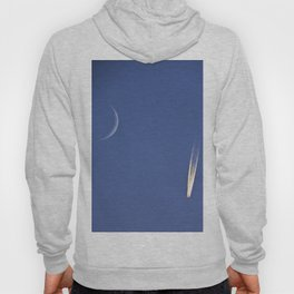 Moon and Jet in the Deep Blue Hoody