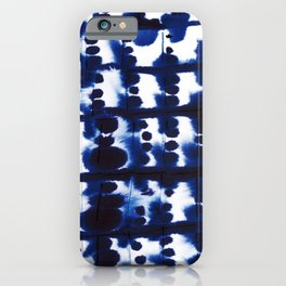 Parallel Indigo iPhone Case