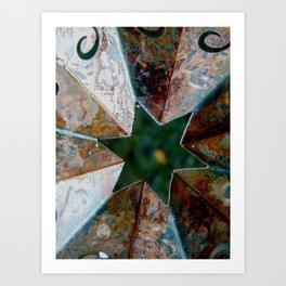 Rusty Star Art Print