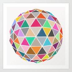 geodesic 1 Art Print