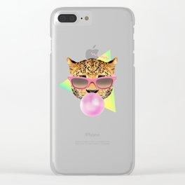 Bubble Gum Leo Clear iPhone Case