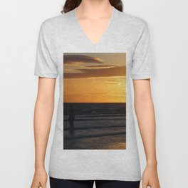 Watching the Sunset Unisex V-Neck