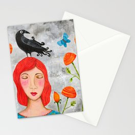 Beautiful Memories - Crow Stationery Cards