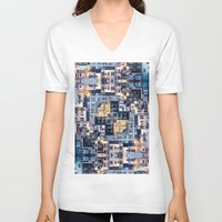 community V-neck T-shirts featuring Community of Cubicles by Phil Perkins