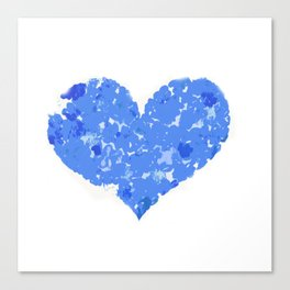 A Heart Of Blue Flowers Canvas Print