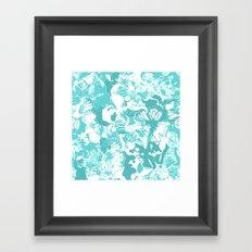 My Aqua butterflies Framed Art Print