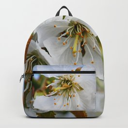 White Cherry Blossoms Backpack