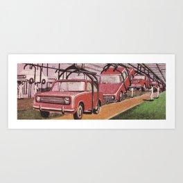 Conveying Cars Art Print