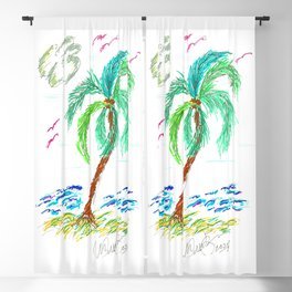 """Beach Afternoon"" Blackout Curtain"