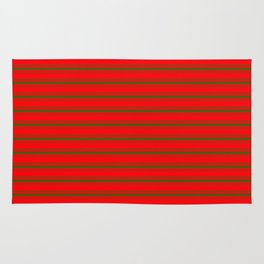 Christmas Red and Green Bedding Stripes Rug