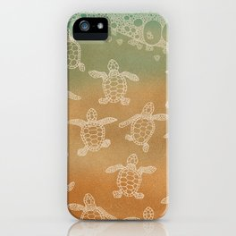 Baby loggerhead turtles iPhone Case
