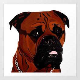 Kees, The Bullmastiff Art Print