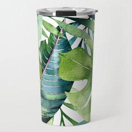 Tropical Jungle Leaves Travel Mug