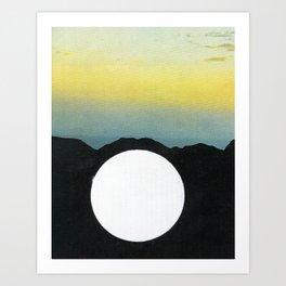 Light Within Mountains Art Print
