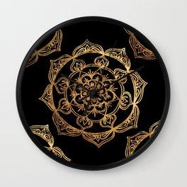 Gold Foil Mandala Wall Clock