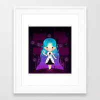 firefly Framed Art Prints featuring Firefly by Luli Bunny