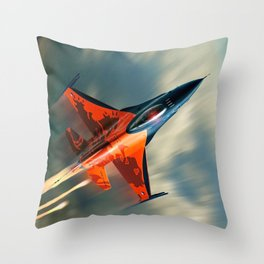 Fighter Jet Military airplane speed                                                             Throw Pillow