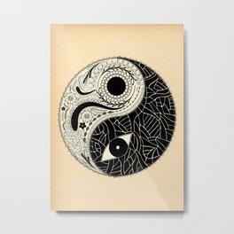 - yin & yang - [collaborative art with famenxt] Metal Print