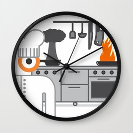 cooked glance Wall Clock