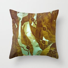 In the Kelp Forest Throw Pillow