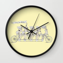 Tandem (bike) Wall Clock