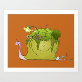 Snail's Garden Art Print