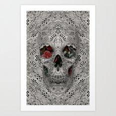 Lace Skull 2 Art Print