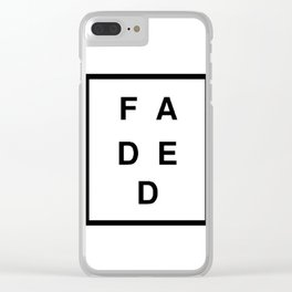 FADED SQUARED Clear iPhone Case