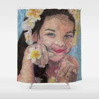 child Shower Curtains featuring child by Caterina Zamai