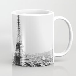 Paris City Sky // Eiffel Tower City Landscape Photography Shot from the top of Champs Elysees France Coffee Mug